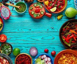 Table of foods from around the world