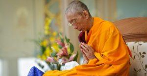 meditation teacher in prayer